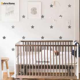 Adhesivo Estrellas gris