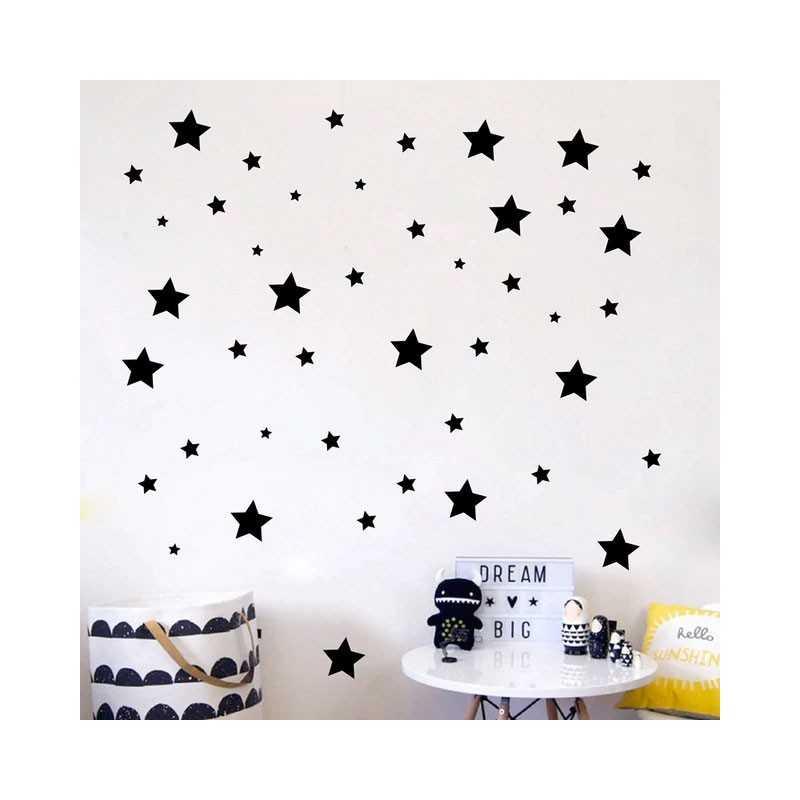 Adhesivo Estrellas Black